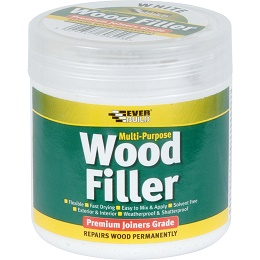 Everbuild Multi Purpose Wood Filler 250ml White