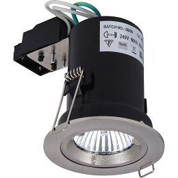 Fire Rated Cast GU10 Downlight Satin Chrome