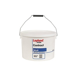 Leyland Contract Matt Brilliant White Trade Paint 10L