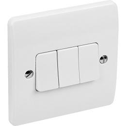 MK Light Switch 3 Gang