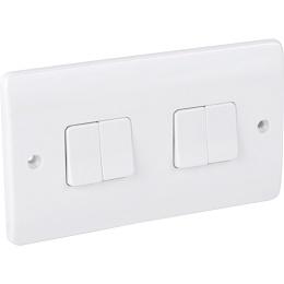 MK Light Switch 4 Gang 2 Way